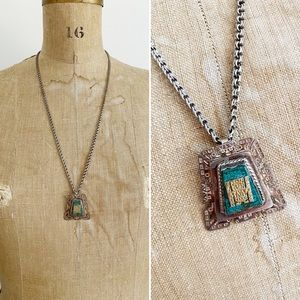 Jewelry - Vintage Peru SterlingSilver and 18K Gold Pendant